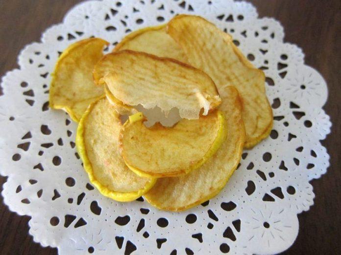 Рецепт яблочных чипсов с отрицательной калорийностью