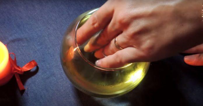 Ванночка с маслом оливы от слоения